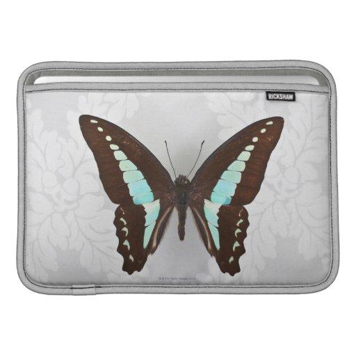 Mariposa en fondo del papel pintado fundas para macbook air