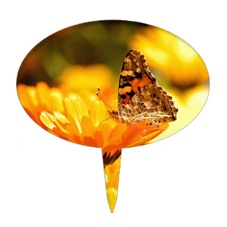 Mariposa en la flor figuras para tartas