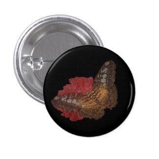 mariposa en la flor roja (imagen digital) pin
