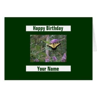 Mariposa en la mariposa Bush Felicitación