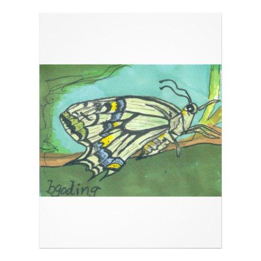 mariposa en la turquesa tarjeta publicitaria