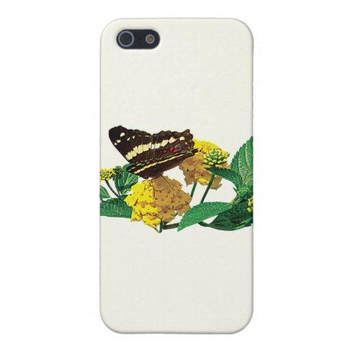 Mariposa en Lantana amarillo iPhone 5 Protector