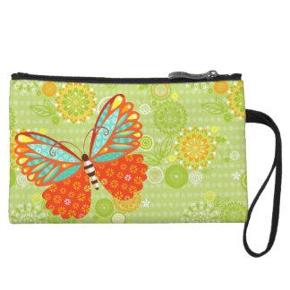Mariposa en las flores - mini bolso de Boho