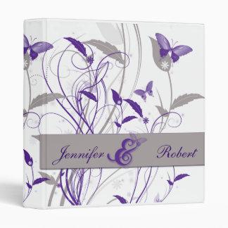 """Mariposa en lila y aniversario púrpura y gris carpeta 1"""""""