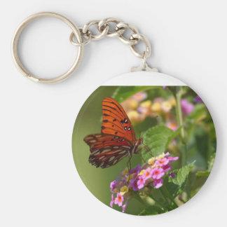 Mariposa en Luisiana Llavero Redondo Tipo Pin