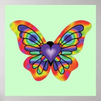 Mariposa en mi corazón impresiones