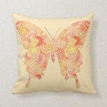Mariposa en modelo del fractal - naranja y almohadas
