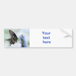Mariposa en pegatina para el parachoques azul del  pegatina para auto
