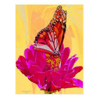 Mariposa en productos de la flor postal