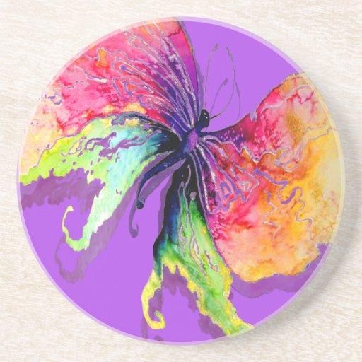 Mariposa en púrpura posavasos manualidades