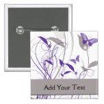 Mariposa en púrpura y gris pin