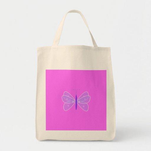Mariposa en rosa bolsas