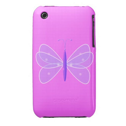 Mariposa en rosa iPhone 3 carcasa