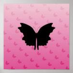 Mariposa en rosa impresiones