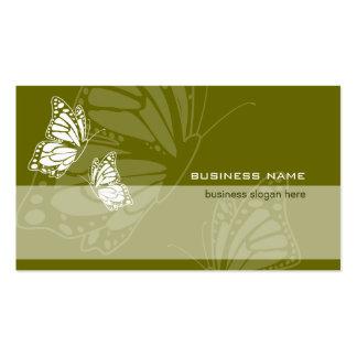 Mariposa en simple moderno elegante del verde tarjetas de visita