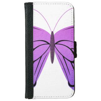 Mariposa en sombras de la púrpura funda cartera para iPhone 6