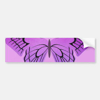 Mariposa en sombras de la púrpura pegatina para auto