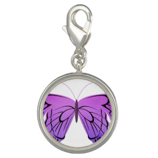 Mariposa en sombras de la púrpura dijes con foto