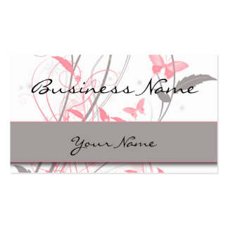 Mariposa en tarjeta de visita del rosa de la madre
