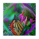 Mariposa en teja del arte abstracto de la naturale