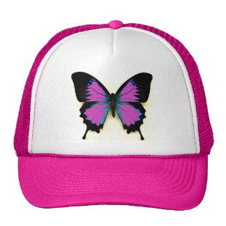 Mariposa en un casquillo gorros bordados