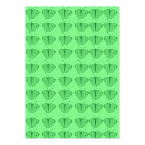 Mariposa en verde tarjetas de visita grandes