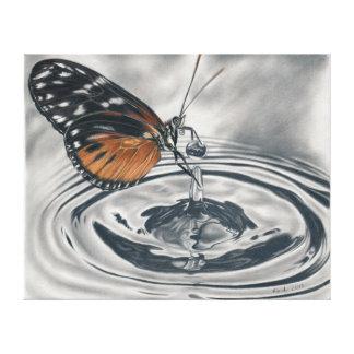 Mariposa encuentra Wassertropfen Impresiones De Lienzo