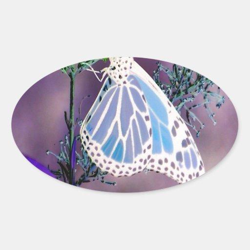 Mariposa enrrollada calcomanías de ovales personalizadas