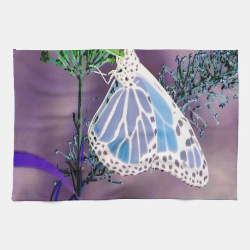 Mariposa enrrollada toalla de mano