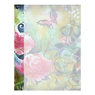 mariposa entre los rosas membretes personalizados