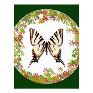 Mariposa escasa aislada de Swallowtail Membrete