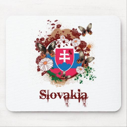 Mariposa Eslovaquia Mouse Pads