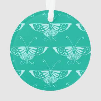 Mariposa estilizada de Deco - turquesa y