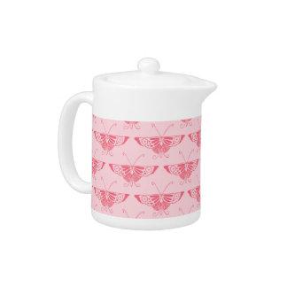 Mariposa estilizada del art déco - rosa del coral