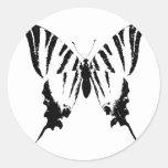 Mariposa Etiqueta Redonda
