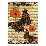 Mariposa europea con la tarjeta de felicitación de