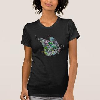 Mariposa exótica del resplandor camiseta