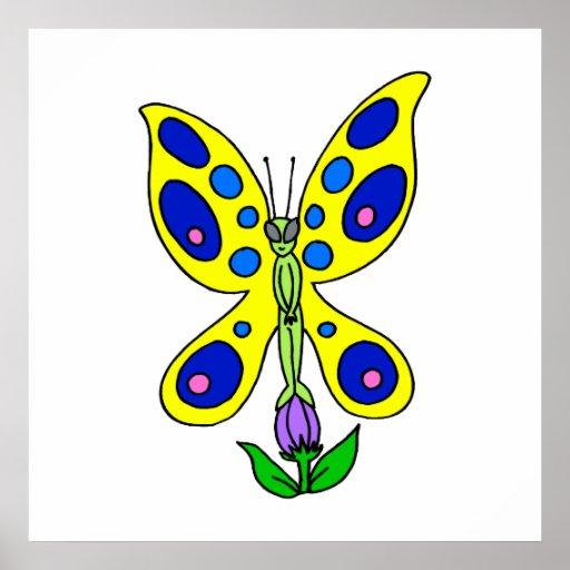 Mariposa extranjera impresiones