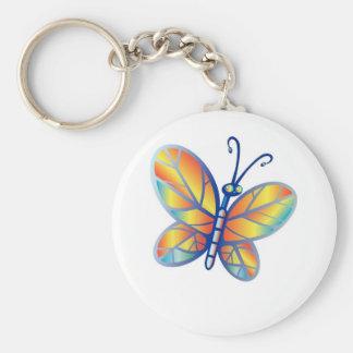 Mariposa fabulosa del arco iris llaveros personalizados