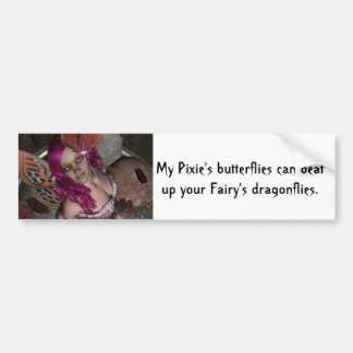 Mariposa Fae de RedBlossom Pegatina Para Auto