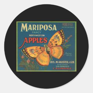Mariposa Fancy Northwestern Apples Classic Round Sticker
