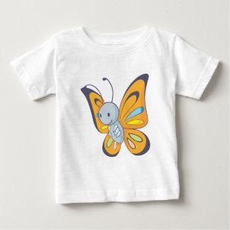 Mariposa feliz playera para bebé