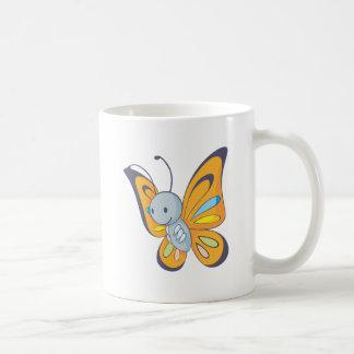 Mariposa feliz tazas de café