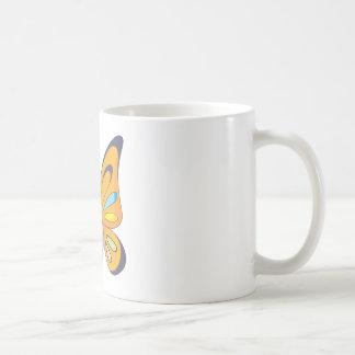 Mariposa feliz taza