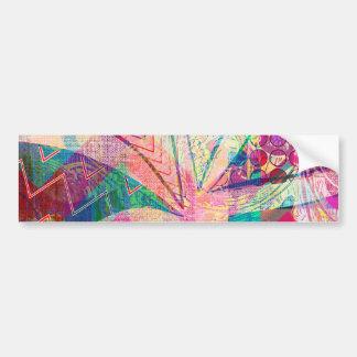 Mariposa femenina abstracta enrrollada colorida vi pegatina para auto