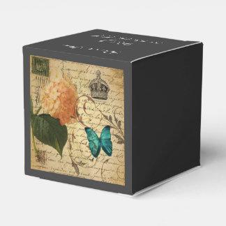 mariposa femenina París botánica del Hydrangea del Caja Para Regalos De Fiestas