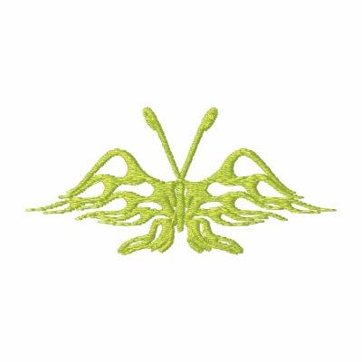 Mariposa flameada tribal de las alas polo enbordado