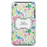 Mariposa floral de la flor del vector Case-Mate iPod touch cárcasas