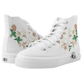 Mariposa floral de oro zapatillas