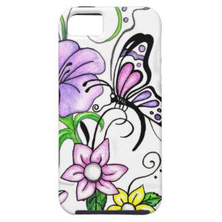 Mariposa floral iPhone 5 fundas